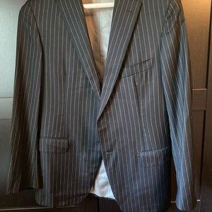 Custom men's pinstripe suit